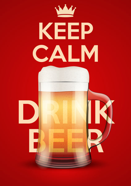 keep calm and drink beer banner logo vinyl decal sticker shinobi