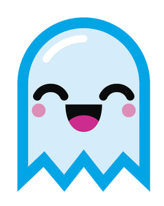 Light Blue Baby Ghost Emoji #1 Vinyl Decal Sticker