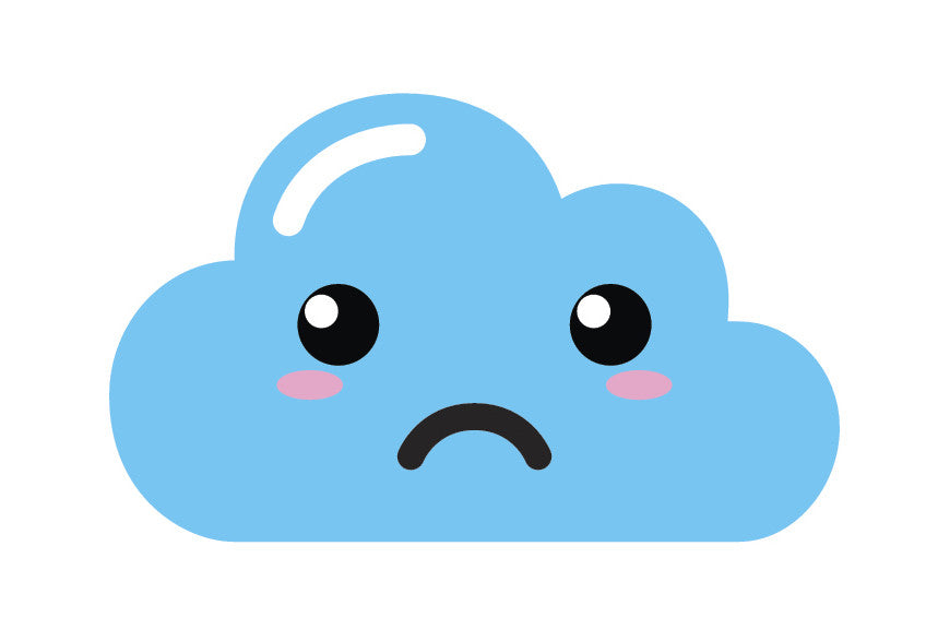 Light Blue Kawaii Cloud Emoji (6) Vinyl Decal Sticker