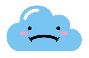 Light Blue Kawaii Cloud Emoji (9) Vinyl Decal Sticker