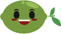 Lime Fruit Cartoon Emoji -  Open Smile Vinyl Decal Sticker