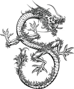 Long Scary Dragon Vinyl Decal Sticker