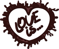 Love is Chocolate Heart for Chocolate Lovers Vinyl Decal Sticker