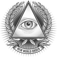 Majestic Freemasonic Eye of Providence  Occult Icon Vinyl Decal Sticker