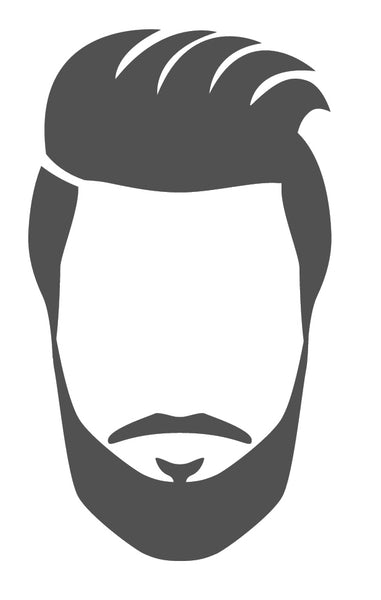 Man Head, Hair and Faicial Hair Silhouette (10) Vinyl Decal Sticker