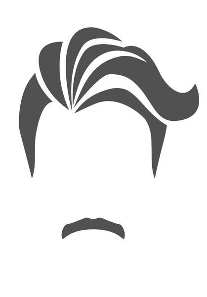 Man Head, Hair and Faicial Hair Silhouette (3) Vinyl Decal Sticker