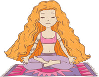 Meditating Zen Yoga Yogi Girl on Mat Vinyl Decal Sticker