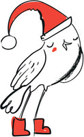 Merry Christmas Holiday Winter Forest Animal Cartoon - Bird #2 Vinyl Decal Sticker
