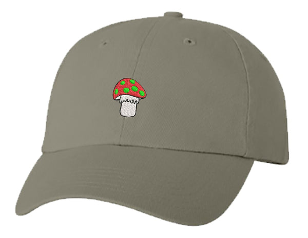 Unisex Adult Washed Dad Hat Pretty Cute Retro Poisonous Garden Forest Mushroom Cartoon Embroidery Sketch Design