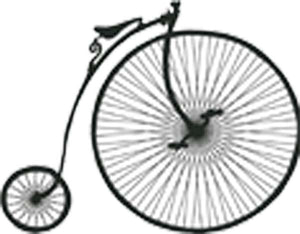Penny-Farthing High Wheel Old Bike Silhouette Vinyl Decal Sticker