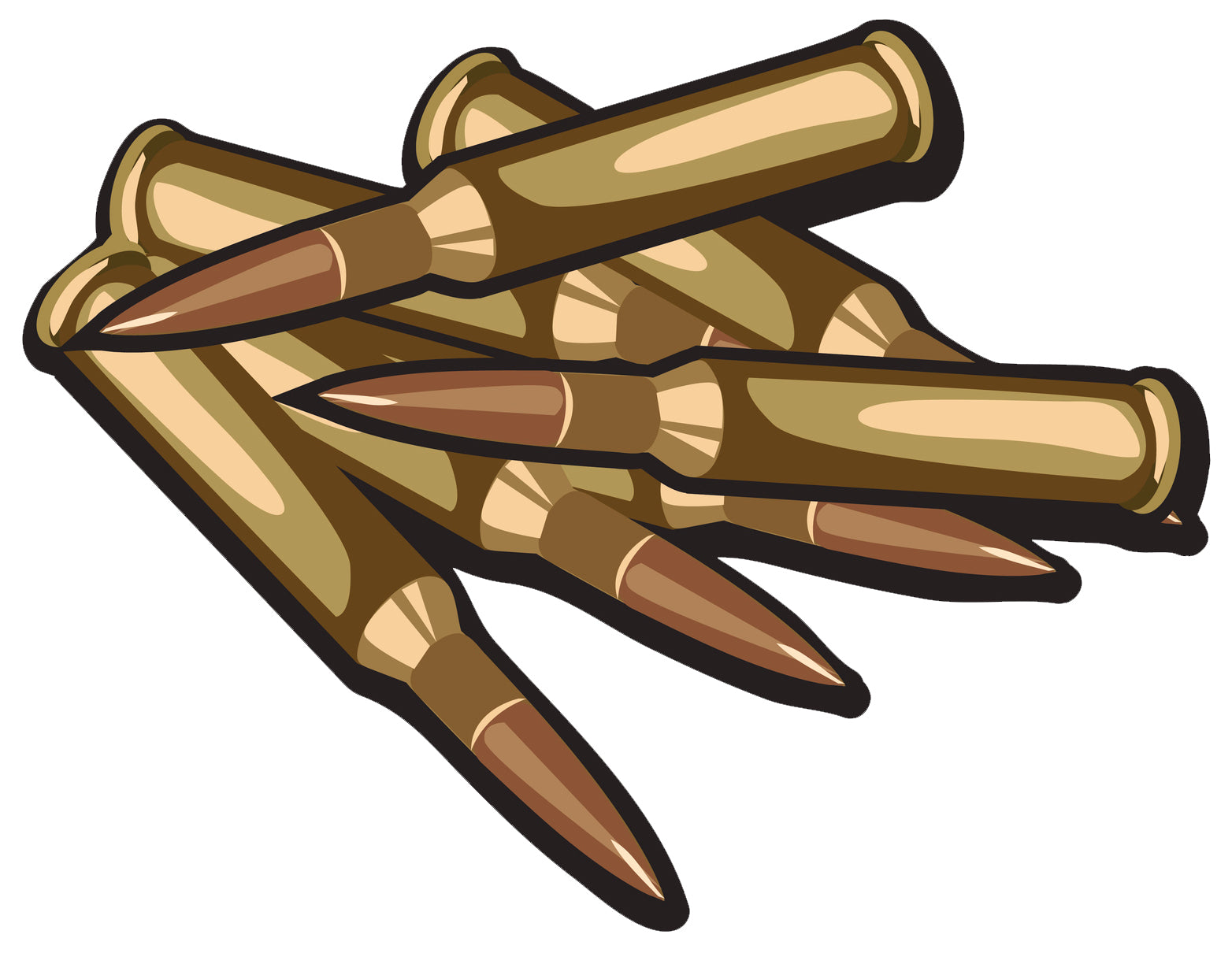 Pile of Bronze Bullets Vinyl Decal Sticker