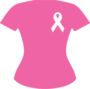 Pink Breast Cancer Awareness Logo Symbol Icon - Shirt Vinyl Decal Sticker