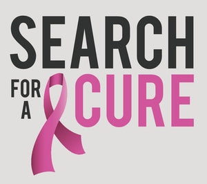 Pink Breast Cancer Icon - Search for a Cure Vinyl Decal Sticker