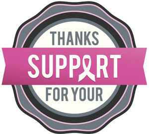 Pink Breast Cancer Icon - Thanks for Your Support Vinyl Decal Sticker