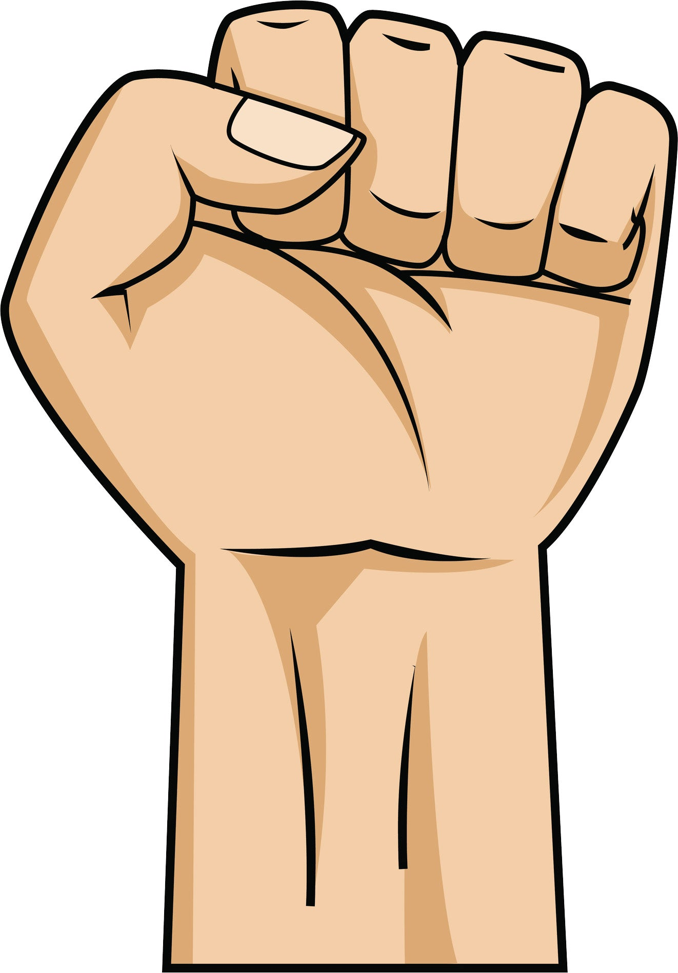 Power Fist Up Pump Cartoon Vinyl Decal Sticker