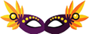Pretty Colorful Masquerade Mask Cartoon - Purple Flower Mask Vinyl Decal Sticker