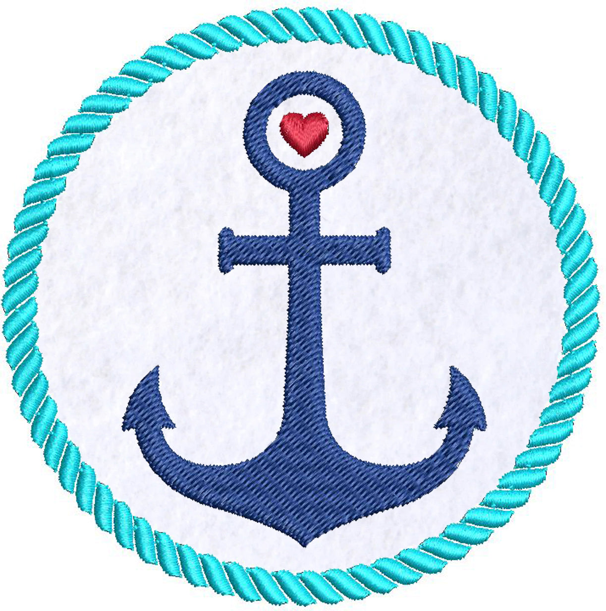 Iron on / Sew On Patch Applique Pretty Nautical Colorful Anchor and Rope Cartoon Icon #4 Embroidered Design