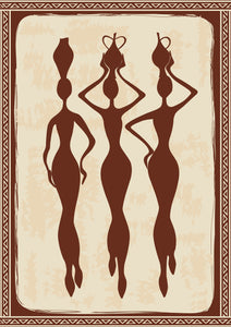 Pretty Ancient Civilization Women with Jars Cartool Silhouette Icon Vinyl Decal Sticker