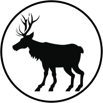 Pretty Black and White Christmas Holiday Winter Cartoon Icon - Moose Vinyl Decal Sticker