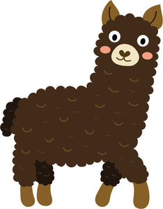 Pretty Cute Brown Blushing Lamb Sheep Cartoon Vinyl Decal Sticker