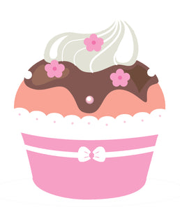 Pretty Dainty Girly Lace Cupcake #1 Vinyl Decal Sticker