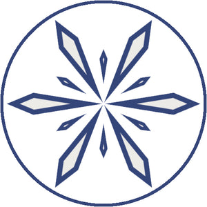 Pretty Delicate Navy Winter Snowflake Icon #8 Vinyl Decal Sticker