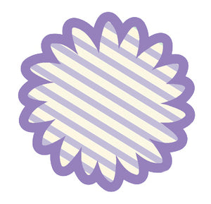 Pretty Delicate Pastel Spring Elements Purple Stripe Flower Vinyl Decal Sticker