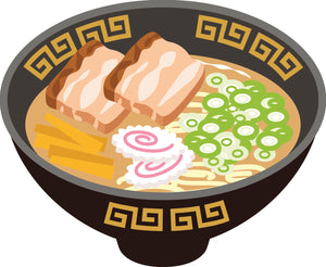 Pretty Delicious Japanese Ramen Bowl Cartoon Art #4 Vinyl Decal Sticker