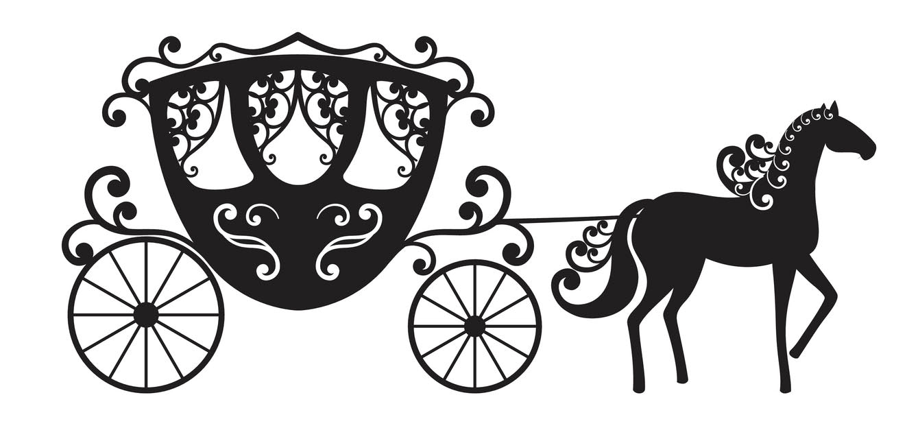 Pretty Elegant Horse Drawn Carriage #2 Vinyl Decal Sticker