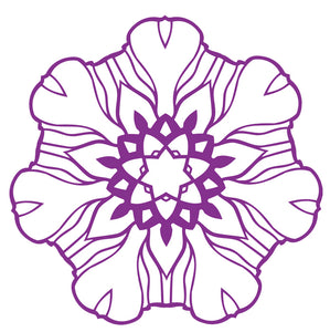 Pretty Geometric Flower Stamp - Purple #1 Vinyl Decal Sticker