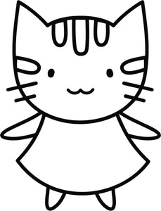 Pretty Kawaii Kitty Cat Cartoon Emoji - #2 Vinyl Decal Sticker