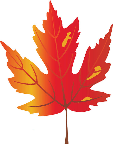 Pretty Paint Art Cartoon Leaf Leaves - Fall #11 Vinyl Decal ...