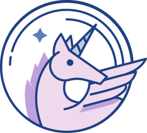 Pretty Periwinkle Fantasy Fairytale Element Cartoon Icon - Unicorn Vinyl Decal Sticker