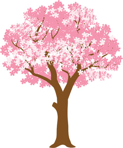 Pretty Pink Chinese Japanese Cherry Blossom Cartoon #2 Vinyl Decal Sticker