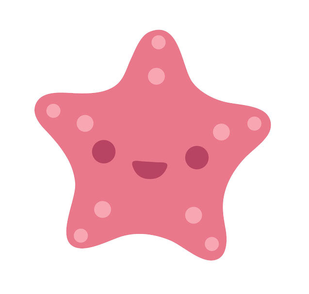 Pretty Pink Seastar Starfish #3 Vinyl Decal Sticker