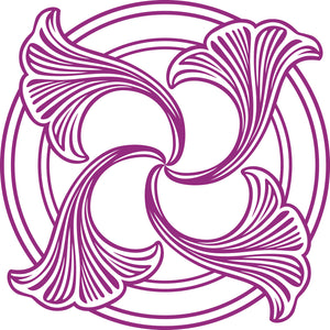 Pretty Purple Lilac Flower Icon #2 Vinyl Decal Sticker
