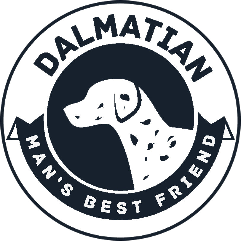 Pure Breed Puppy Dog Silhouette with Man's Best Friend Banner Icon #1 - Dalmatian Vinyl Decal Sticker