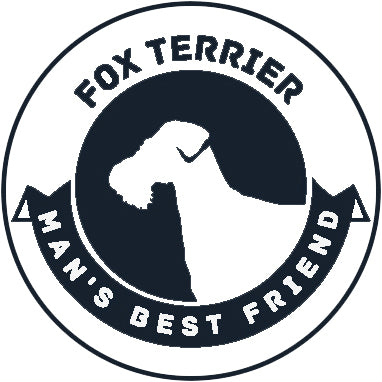 Pure Breed Puppy Dog Silhouette with Man's Best Friend Banner Icon #1 - Fox Terrier Vinyl Decal Sticker