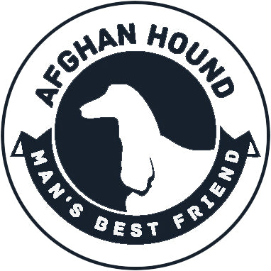 Pure Breed Puppy Dog Silhouette with Man's Best Friend Banner Icon #2 - Afghan Hound Vinyl Decal Sticker