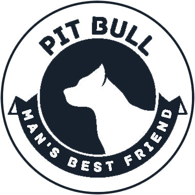 Pure Breed Puppy Dog Silhouette with Man's Best Friend Banner Icon #2 - Pit Bull Vinyl Decal Sticker