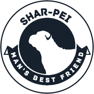 Pure Breed Puppy Dog Silhouette with Man's Best Friend Banner Icon #2 - Shar-Pei Vinyl Decal Sticker