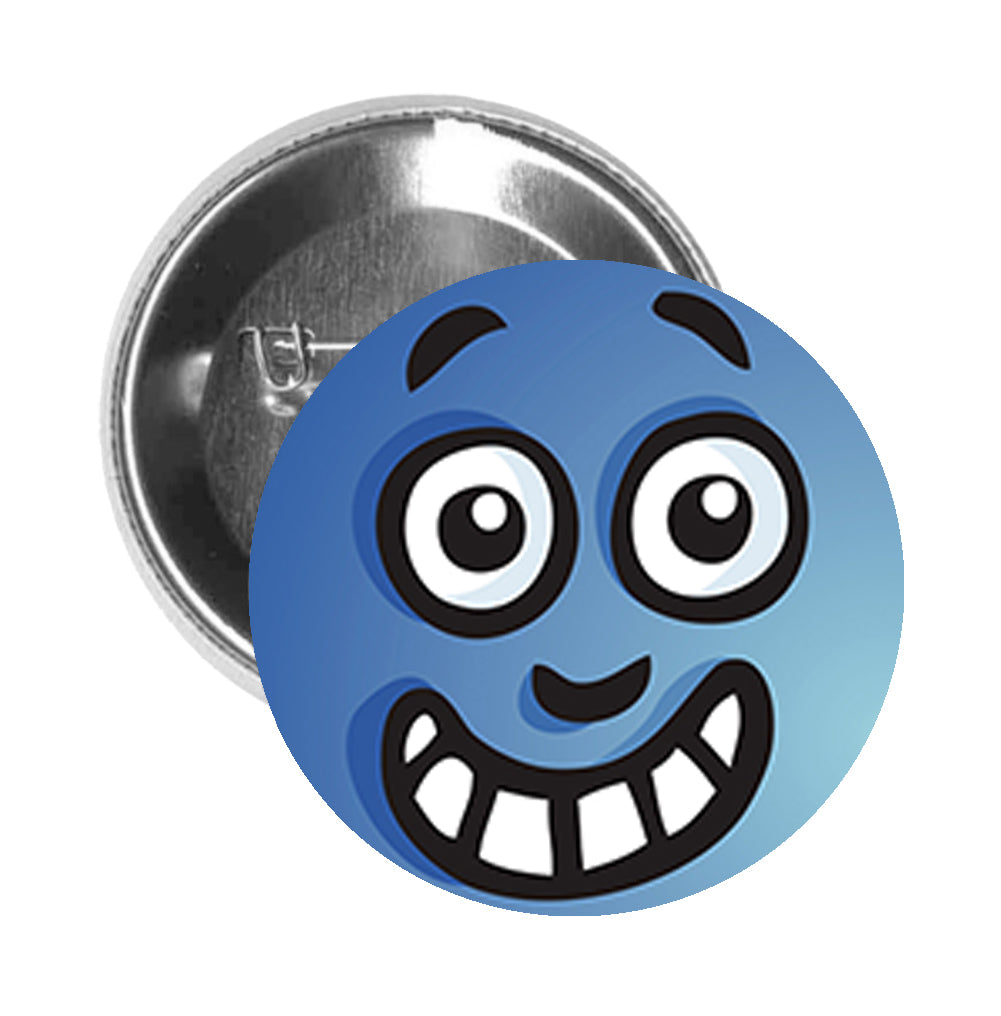 Round Pinback Button Pin Brooch Silly Simple Water Droplet Cartoon Emoji - Zoom