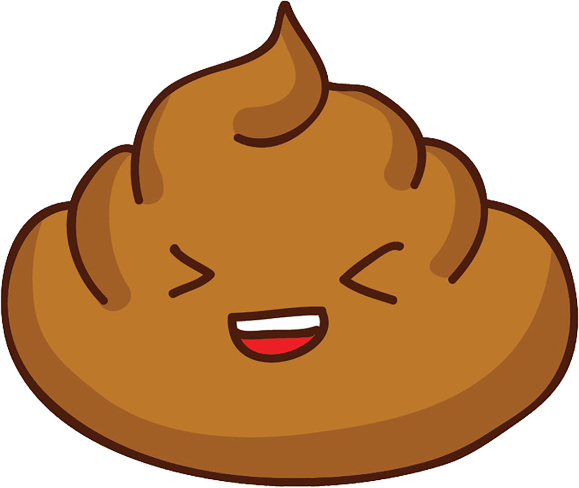 Silly Funny Kawaii Poop Poo Cartoon Emoji #2 Vinyl Decal Sticker