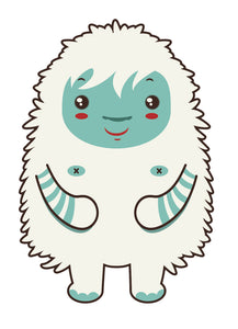 Silly Tribal Furry Lamb Sheep Cartoon (2) Vinyl Decal Sticker