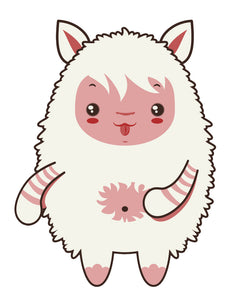 Silly Tribal Furry Lamb Sheep Cartoon (6) Vinyl Decal Sticker