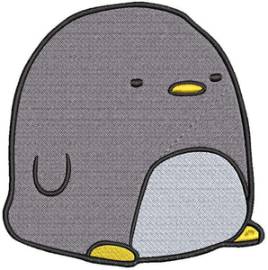 Iron on / Sew On Patch Applique Simple Cute Kawaii Nursery Animal Cartoon - Penguin Embroidered Design