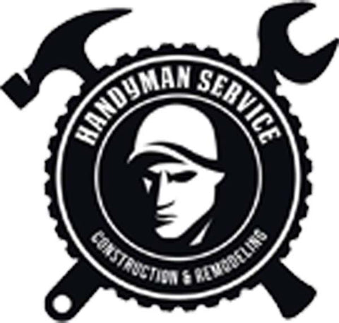 Simple Handyman Tools Cartoon Silhouette Icon - Handy Man Service Vinyl Decal Sticker