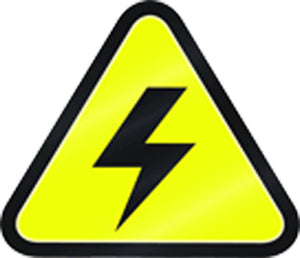 Simple Yellow Triangle Sign Symbol Icon - High Voltage Vinyl Decal Sticker