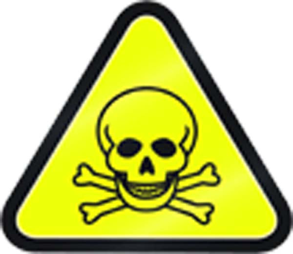 Simple Yellow Triangle Sign Symbol Icon - Poison Vinyl Decal Sticker