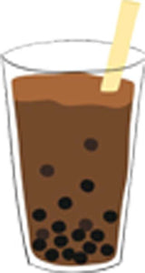 Simple Yummy Boba Bubble Tea Drink Cartoon - Chocolate Coffee Milk Tea Vinyl Decal Sticker
